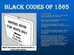 black codes of 18654