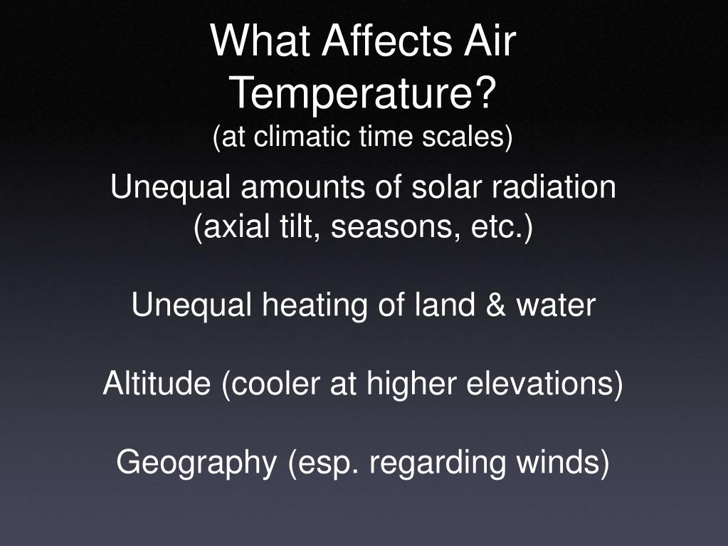 What Affects Air Temperature?