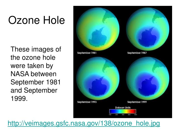 ozone hole problem essay The ozone hole is a loss of stratospheric ozone in springtime over antarctica, peaking in september the ozone hole area is defined as the size of the region with total ozone below 220 dobson.
