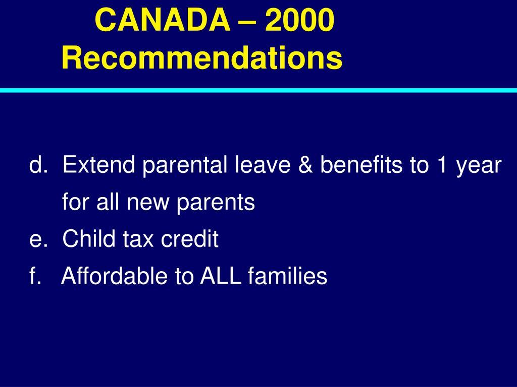 CANADA – 2000