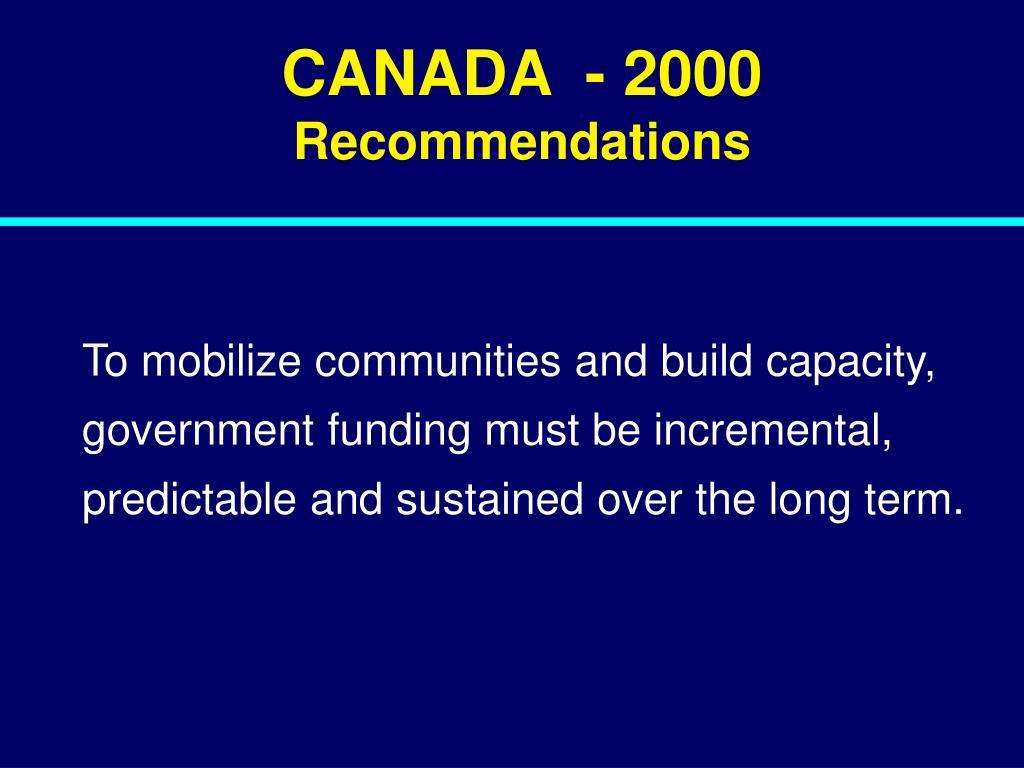 CANADA  - 2000