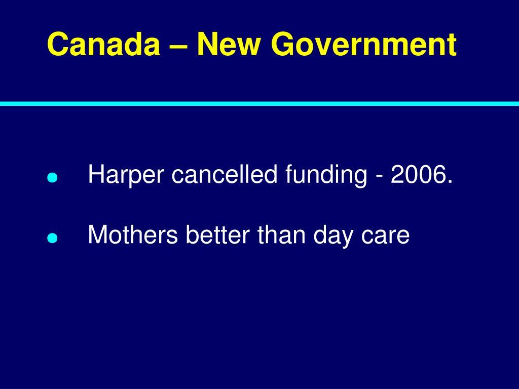 Canada – New Government