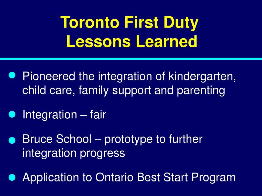 Toronto First Duty