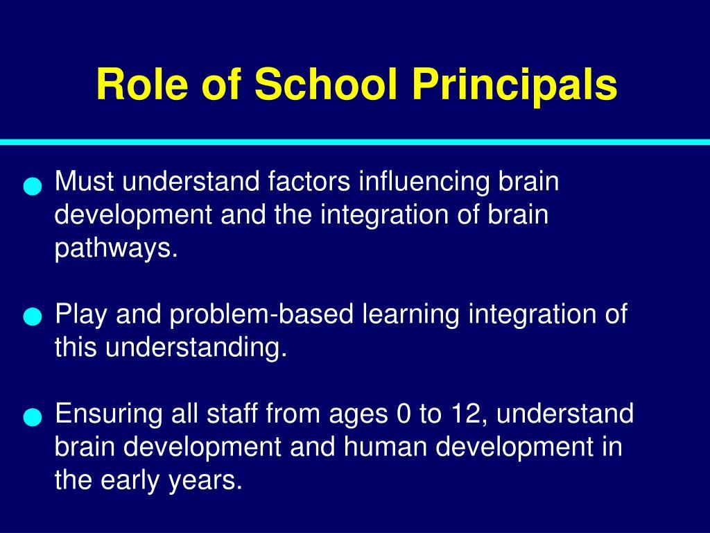 Role of School Principals