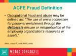 acfe fraud definition