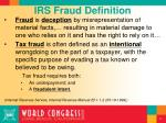 irs fraud definition