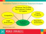 qualitative factors in financial statement analysis