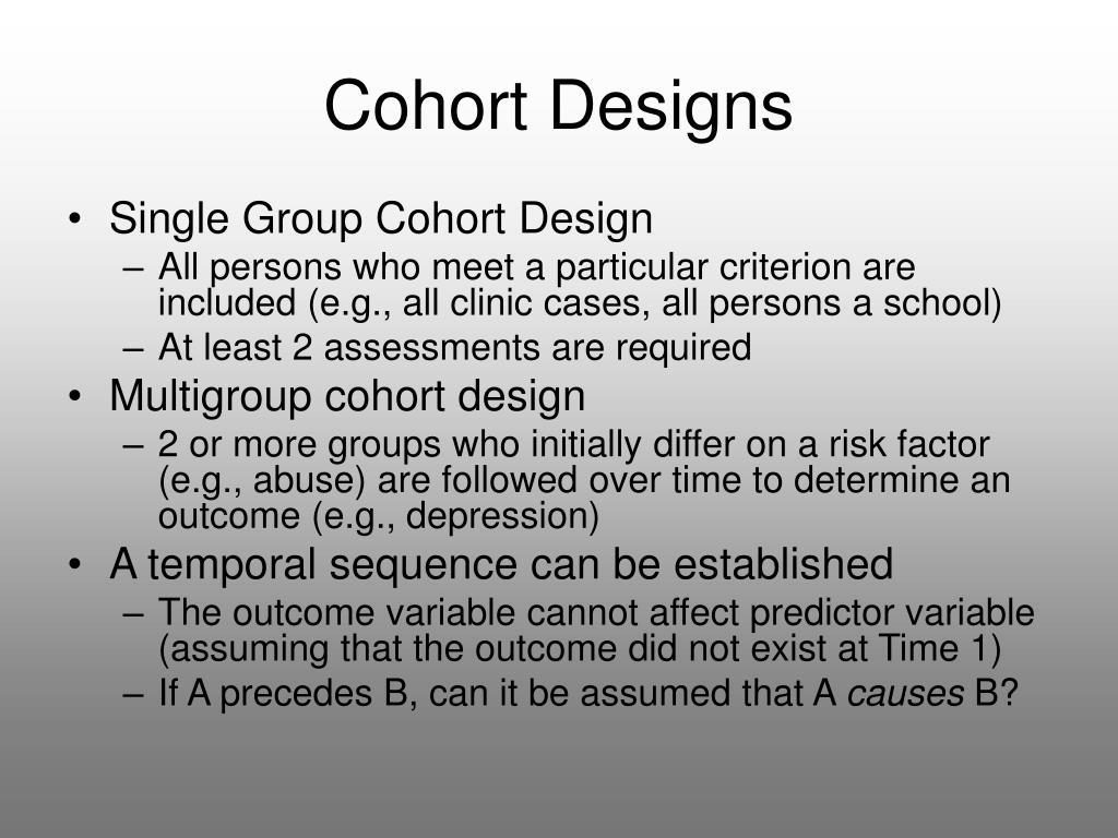 Cohort Designs