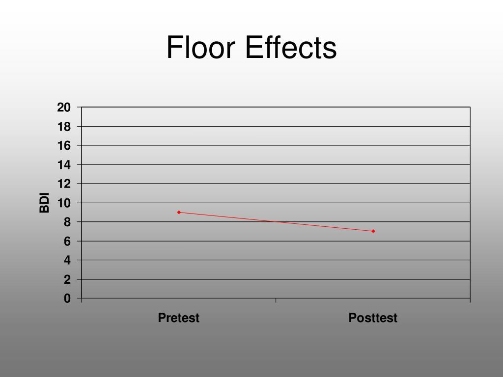 Floor Effects
