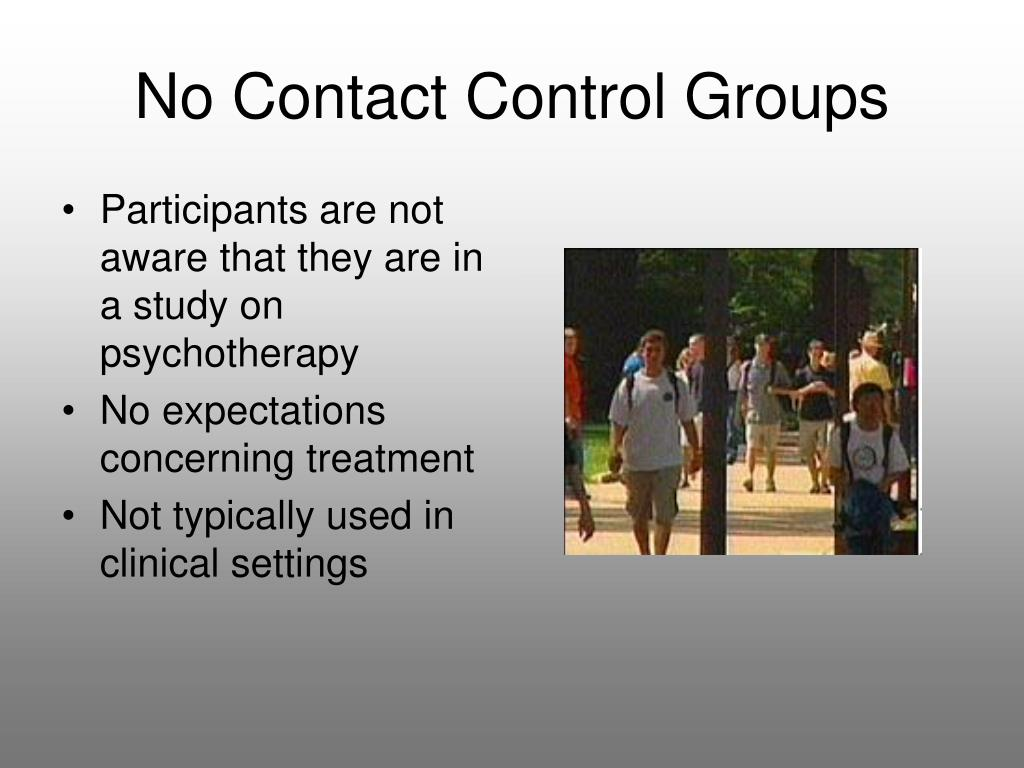 No Contact Control Groups