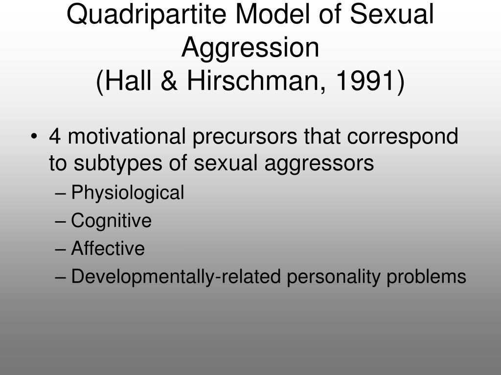 Quadripartite Model of Sexual Aggression