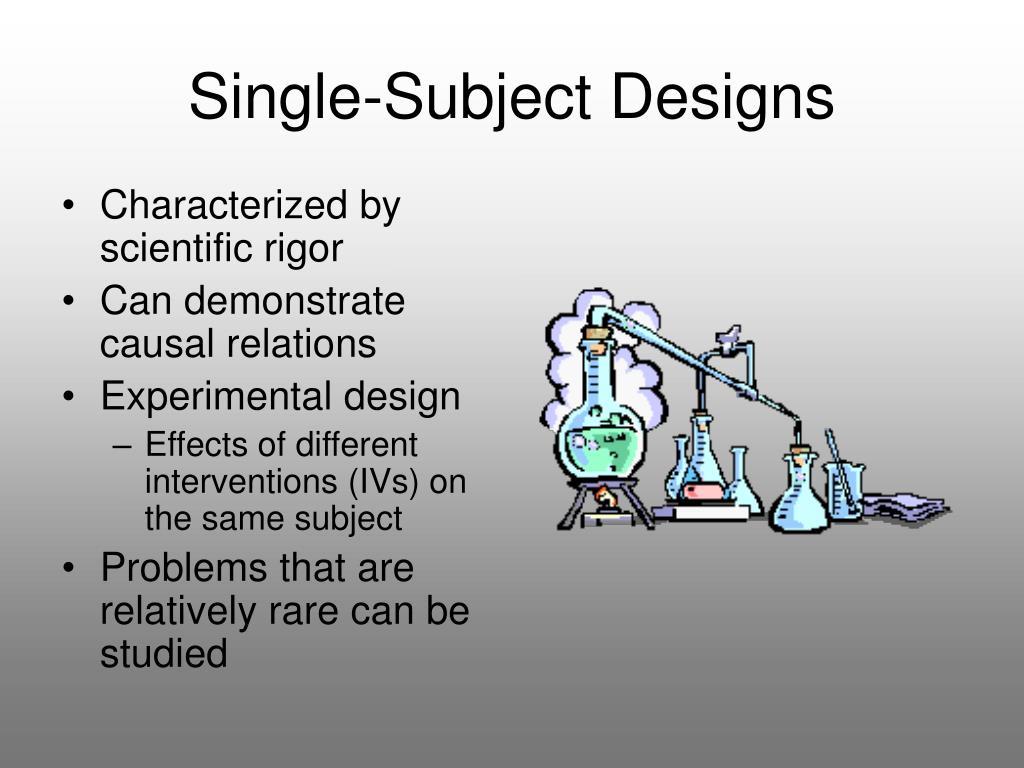Single-Subject Designs