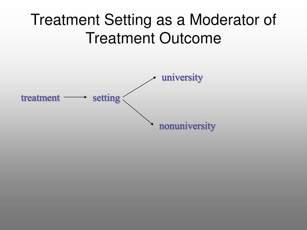 Treatment Setting as a Moderator of Treatment Outcome