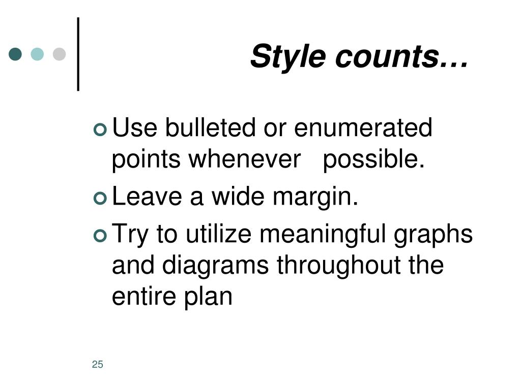 Style counts…
