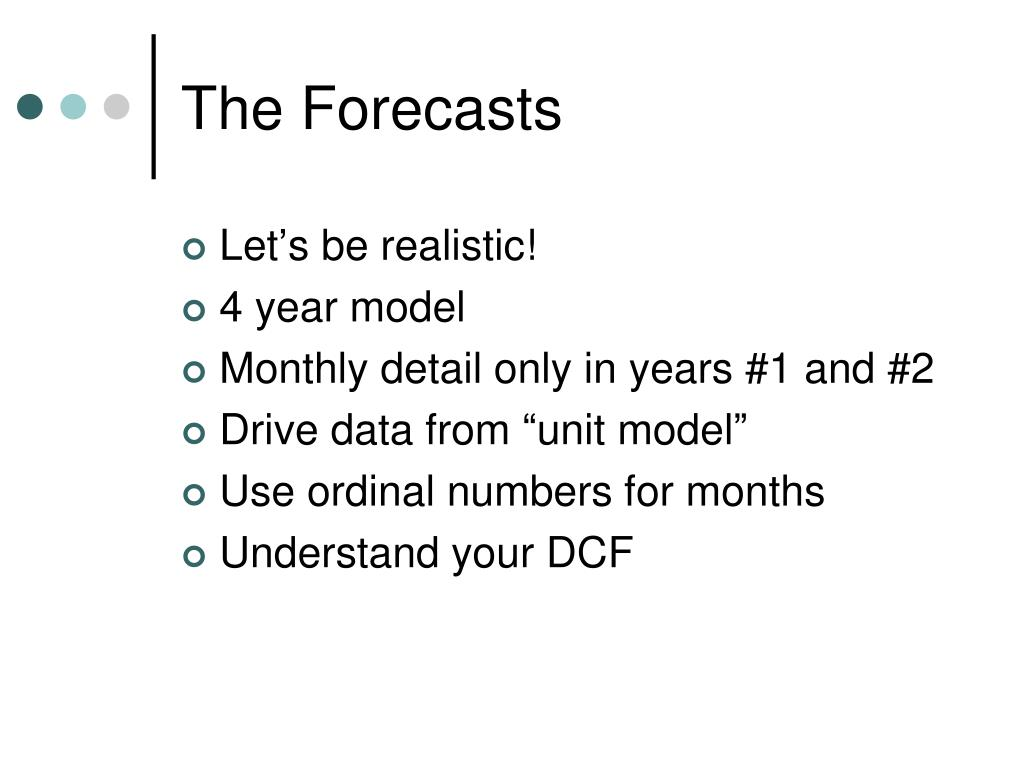 The Forecasts