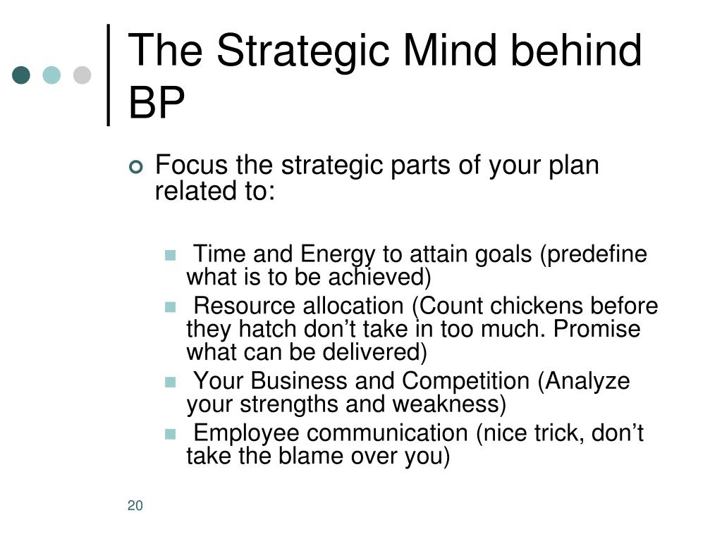 The Strategic Mind behind BP