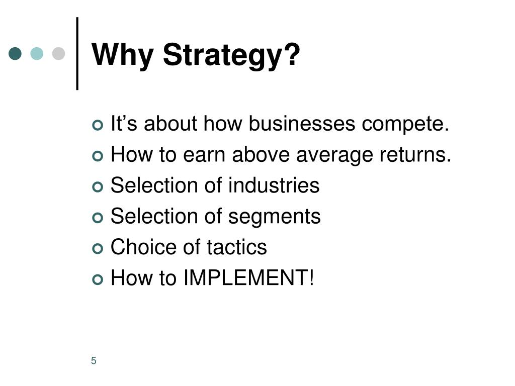 Why Strategy?