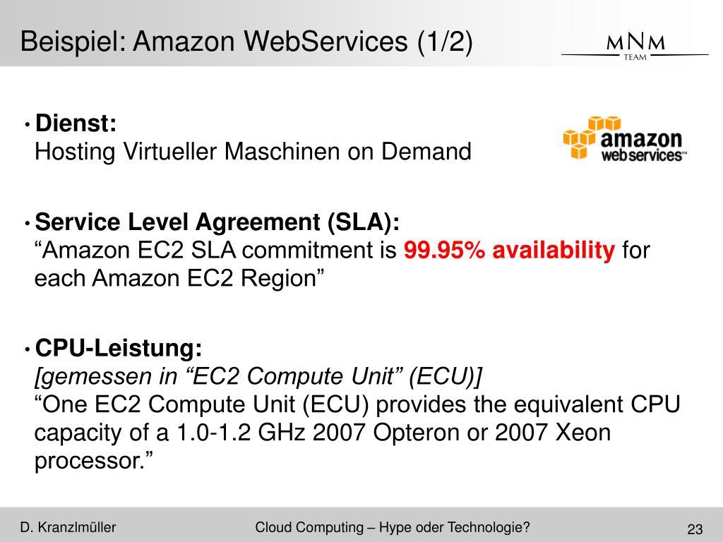 Beispiel: Amazon WebServices (1/2)