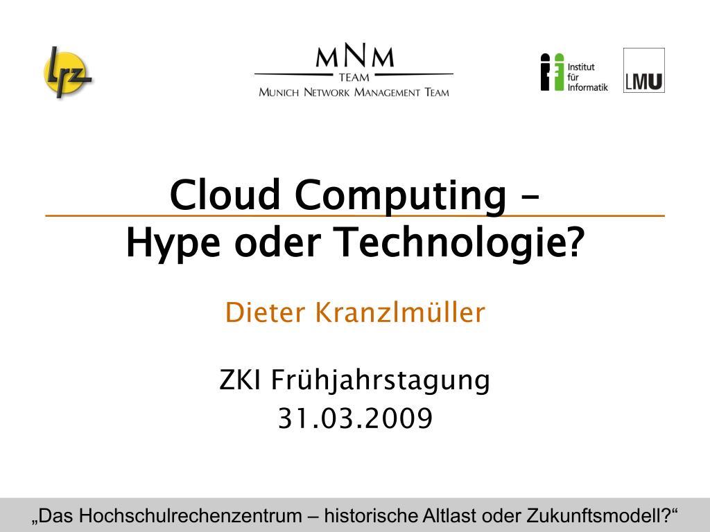 Cloud Computing –