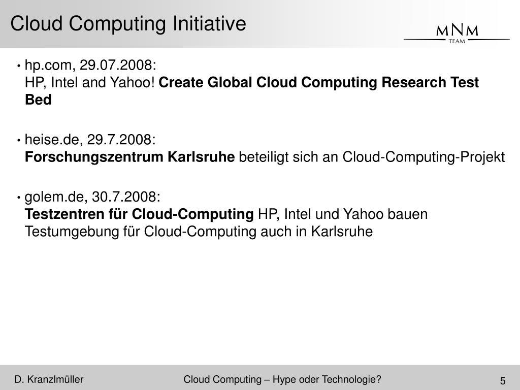 Cloud Computing Initiative