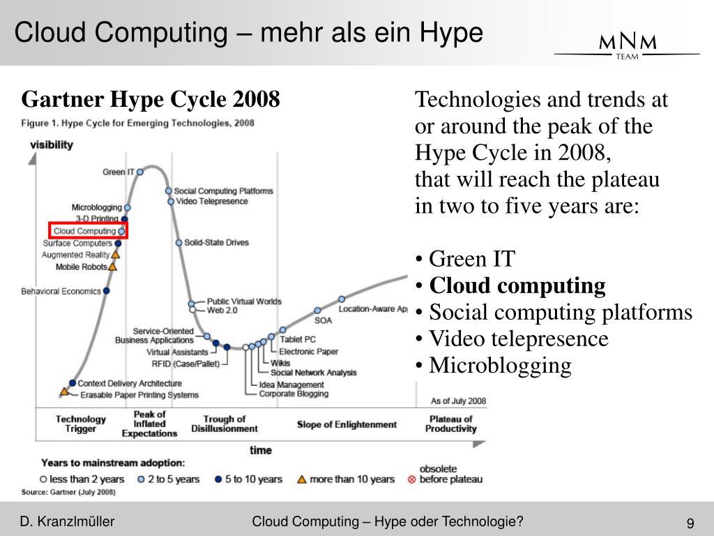 Cloud Computing – mehr als ein Hype