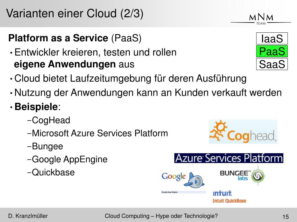 Varianten einer Cloud (2/3)