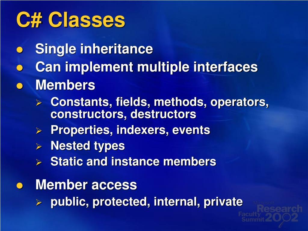 C# Classes