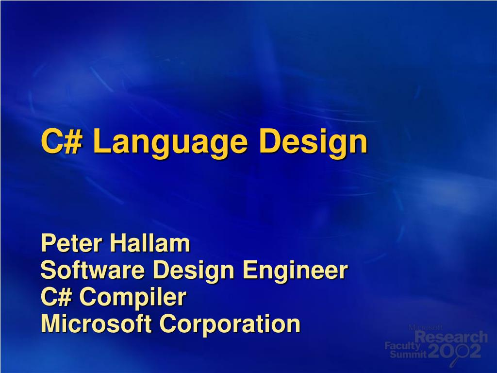 C# Language Design