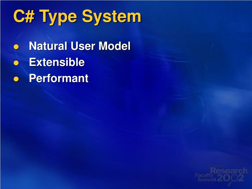 C# Type System