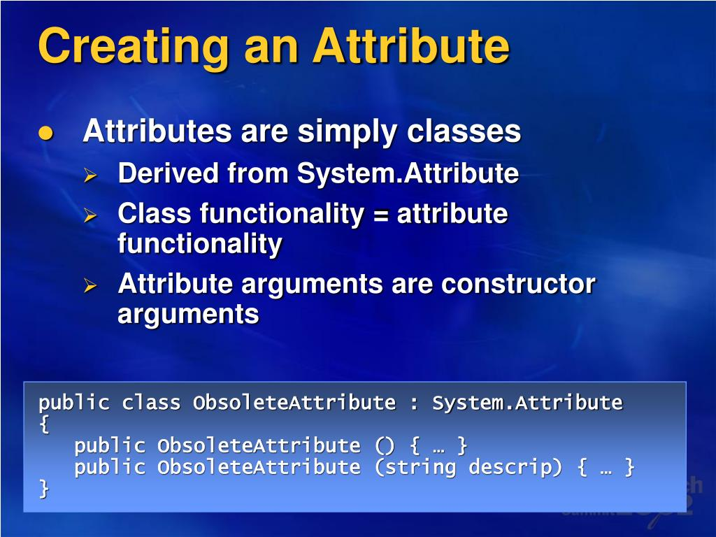 Creating an Attribute