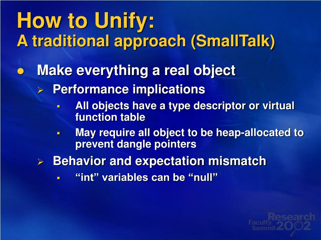 How to Unify: