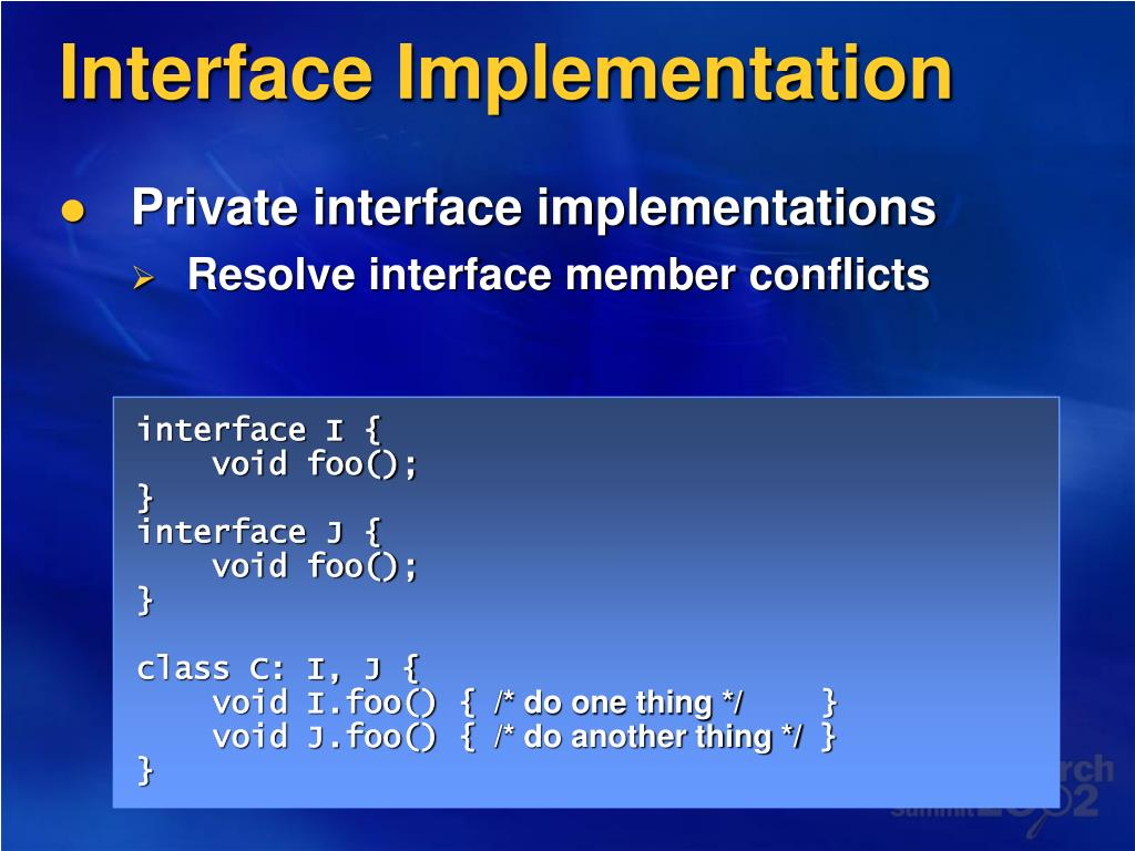Interface Implementation