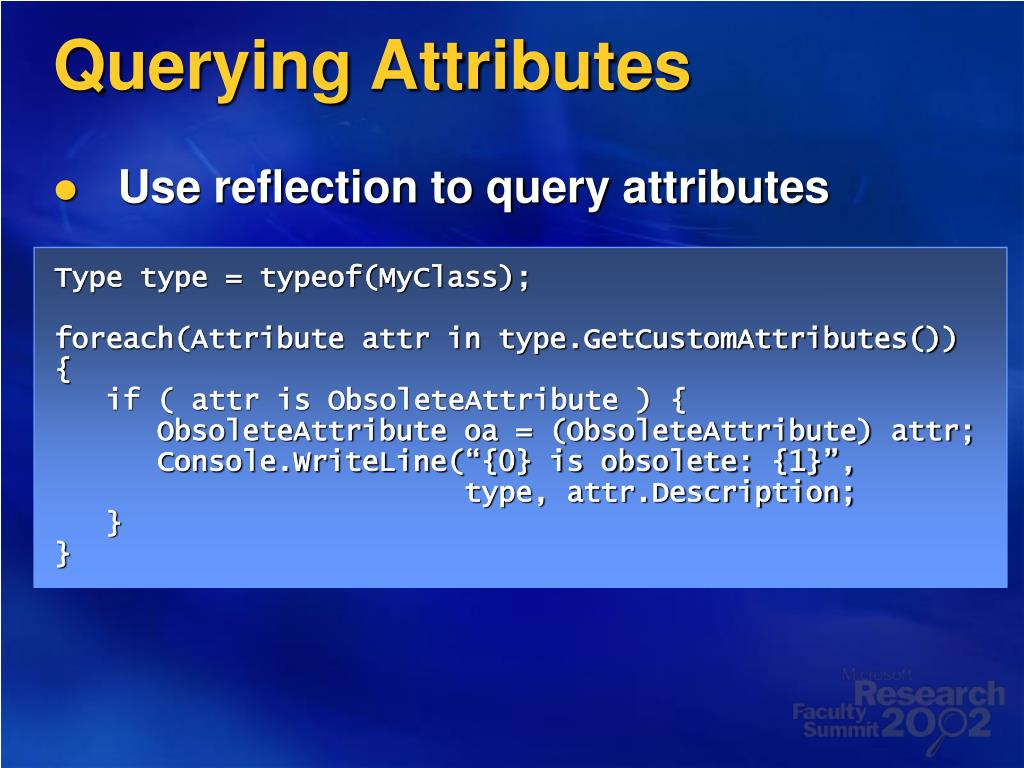 Querying Attributes