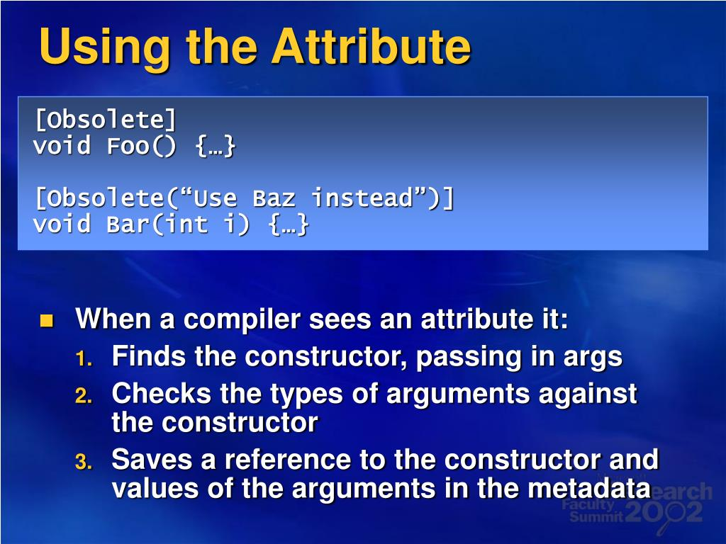 Using the Attribute