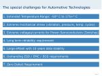 the special challenges for automotive technologies