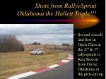 shots from rallyesprint oklahoma the hallett triple28