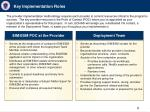 key implementation roles