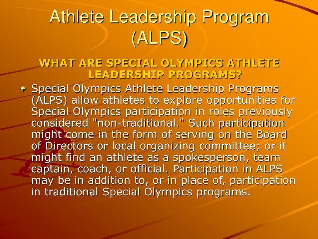 Athlete Leadership Program (ALPS)