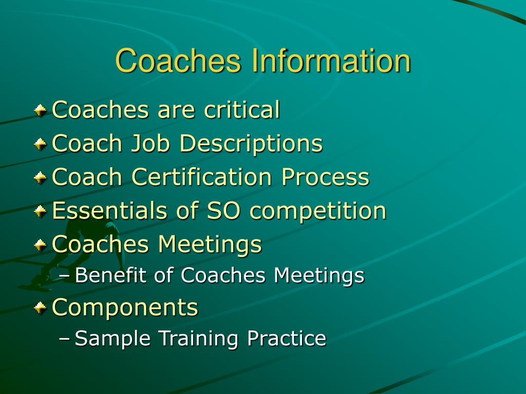 Coaches Information