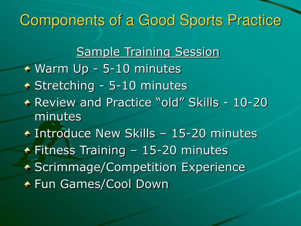 Components of a Good Sports Practice