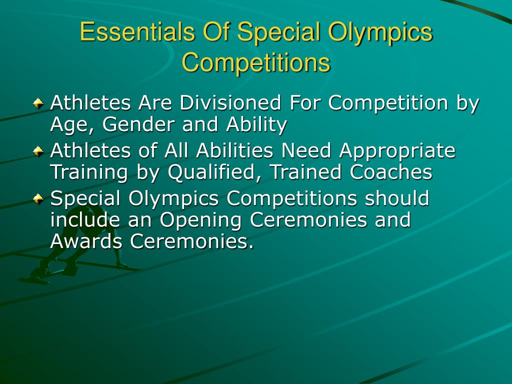 Essentials Of Special Olympics Competitions