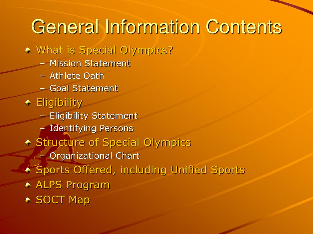 General Information Contents