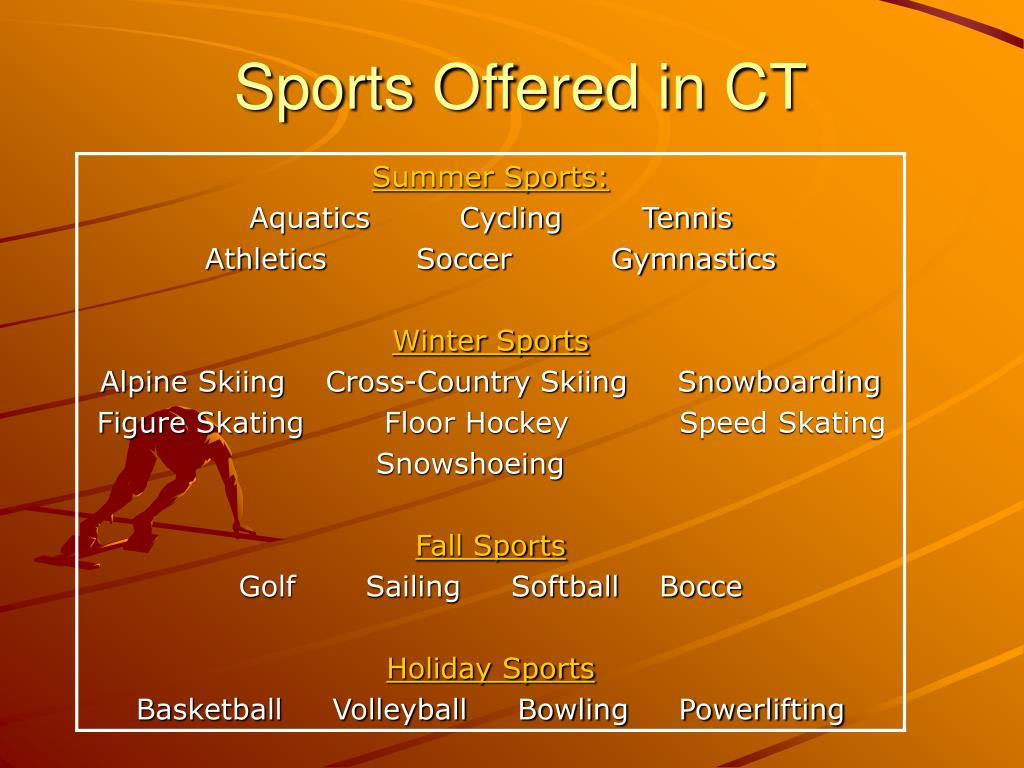 Sports Offered in CT