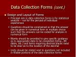 data collection forms cont28