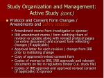 study organization and management active study cont