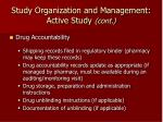 study organization and management active study cont19