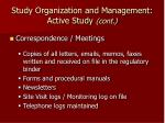 study organization and management active study cont20