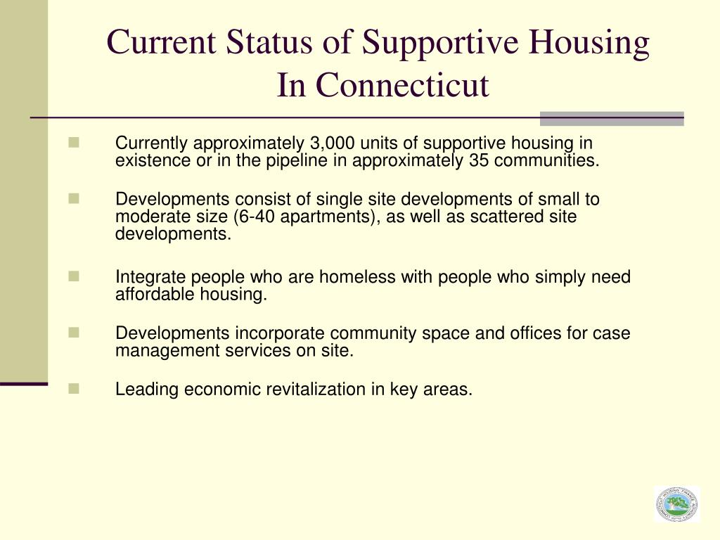 Current Status of Supportive Housing