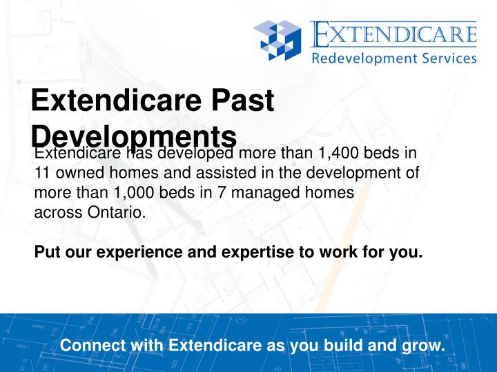 Connect with extendicare as you build and grow