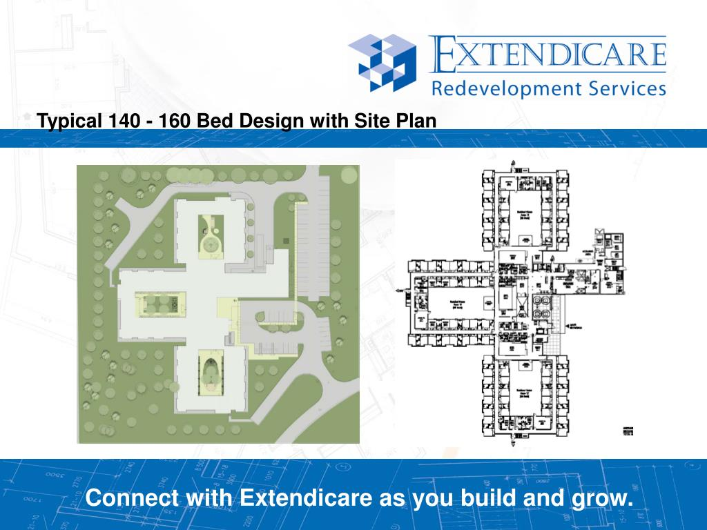 Typical 140 - 160 Bed Design with Site Plan